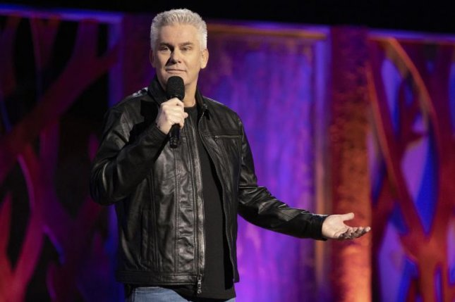 Comedian Brian Regan, whose latest stand-up special, On The Rocks, premieres Tuesday on Netflix, said he didn't work for an entire four months when the COVID-19 pandemic forced venues to close their doors in 2020. Photo courtesy of Netflix