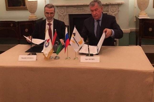 Russian oil company Rosneft signs agreement to work jointly with the National Oil Corp. of Libya. Photo courtesy of the NOC of Libya.