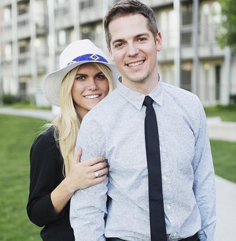 Lauren Scruggs, left, and Jason Kennedy are engaged. (Instagram/laurenscruggs)