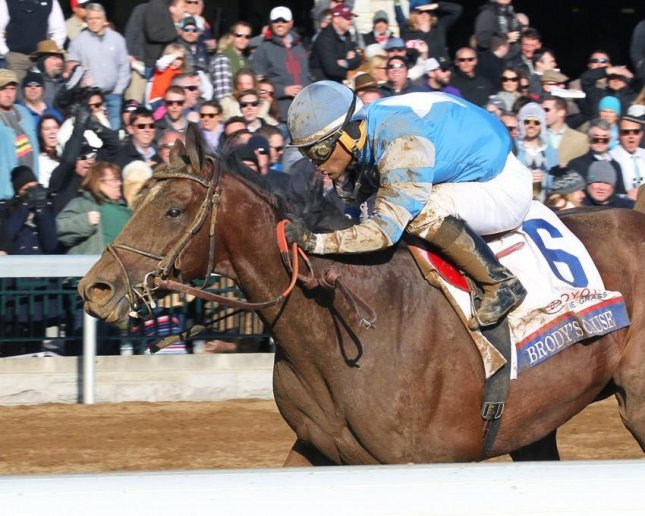 Brody's Cause cruises to victory in Saturday's Blue Grass at Keeneland, one of four $1 million weekend preps for the May 7 Kentucky Derby. Photo courtesy Keeneland