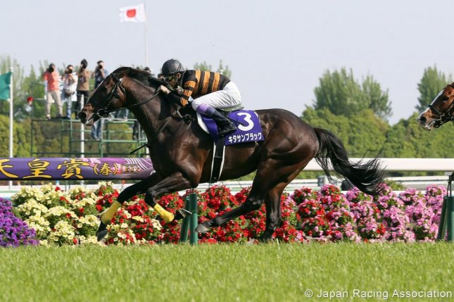 Kitasan Black, seen winning this year's Tenno Sho (Spring), is the big favorite in a quality field for Sunday's Takarazuka Kinen. (JRA photo)