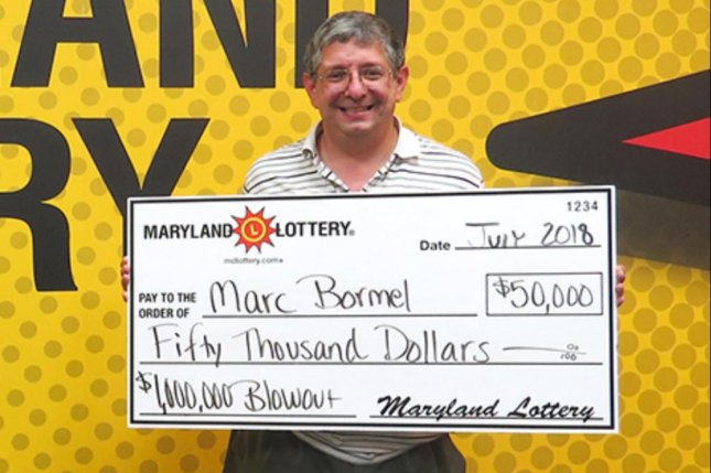 A Maryland man said he won a $50,000 lottery prize just three days after claiming a $500 jackpot. Photo courtesy of the Maryland Lottery