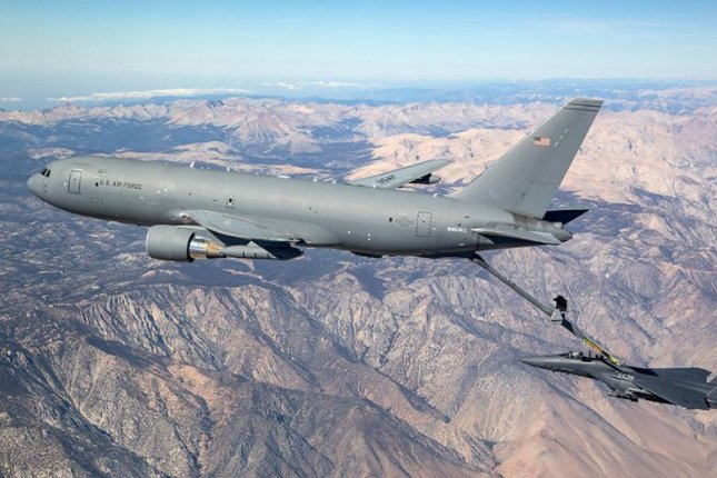 Boeing Co. announced a two-week shutdown on Monday of Washington State plants manufacturing the KC-46 tanker plane, depicted, and the P-8 surveillance plane for the U.S. military. Photo courtesy of Boeing Co.