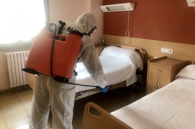 Spain's troops have been put into service to disinfect nursing homes throughout the country. Photo courtesy of the Spanish Defense Ministry