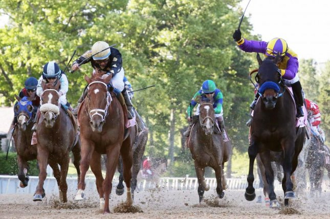 Ce Ce wins Saturday's Grade I Apple Blossom at Oaklawn Park. Photo courtesy of Oaklawn Park