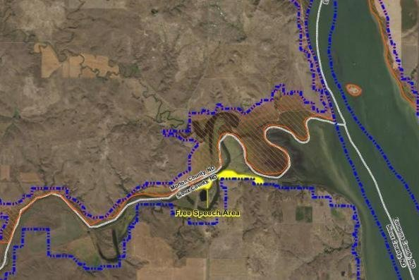 The U.S. Army Corps of Engineers said it has no plans to forcibly remove protesters who stay behind in prohibited areas after a December 6 deadline to vacate. The Army Corps recently provided an outline of a free speech zone south of the Cannonball River in North Dakota where protesters could gather. Photo courtesy of Standing Rock Sioux Tribe/Facebook
