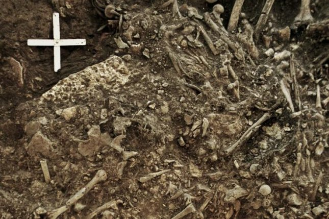Researchers found genetic evidence of an early strain of plague in DNA recovered from the teeth of a 20-year-old woman found in a Neolithic burial site in Sweden. Photo by Karl-Göran Sjögren/University of Gothenburg