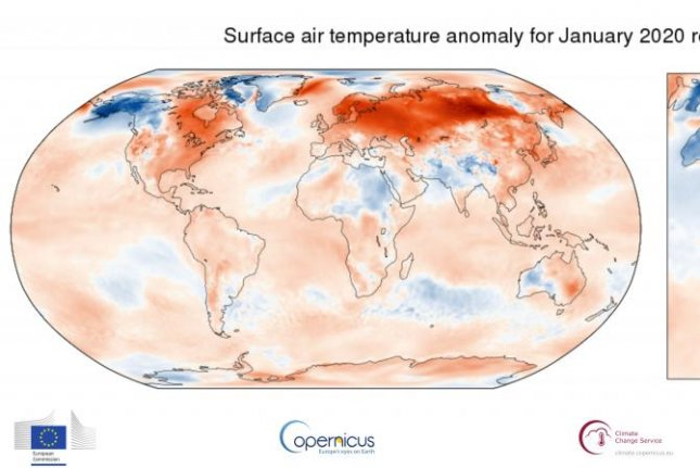 January 2020 was the hottest January on record, according to the latest data from the European Union's Copernicus climate reporting service. Photo by EU/C3S