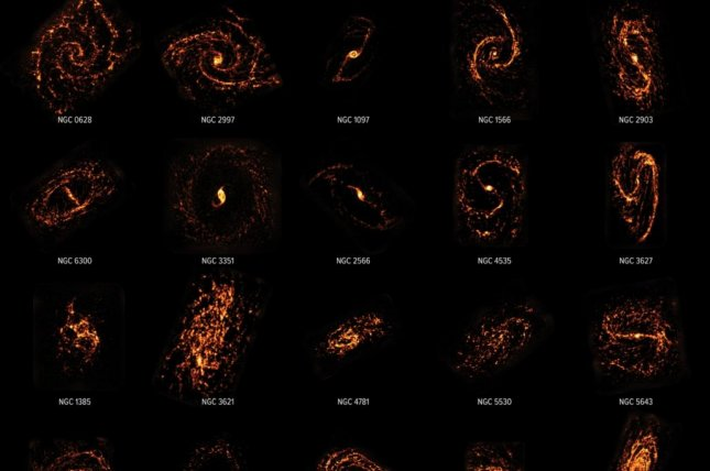 For the PHANGS census, researchers surveyed more than 100,000 stellar nurseries located in 90 different galaxies throughout the nearby universe. Photo byALMA (ESO/NAOJ/NRAO)/PHANGS, S. Dagnello (NRAO)
