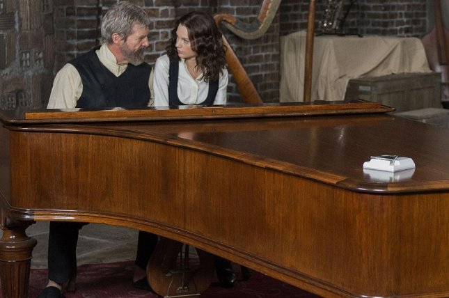 Jeff Bridges and Taylor Swift in The Giver. (Snap Stills/REX USA)