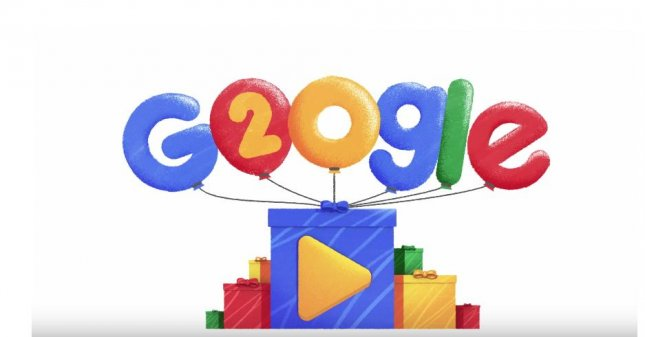 Google takes a look at popular searches from the past 20 years in a new Doodle video. Image courtesy of Google