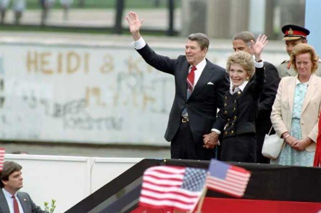 Presiden Ronald Reagan called for the destruction of the Berlin Wall in 1987. On Friday, the 30th anniversary of the wall's fall, a statue will be dedicated in his honor at the U.S. Embassy in Berlin. Photo courtesy of Ronald Reagan Presidential Foundation
