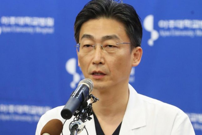 Trauma surgeon Lee Guk-jong is credited with saving the life of a fleeing North Korean soldier in 2017. File Photo by Yonhap/EPA-EFE