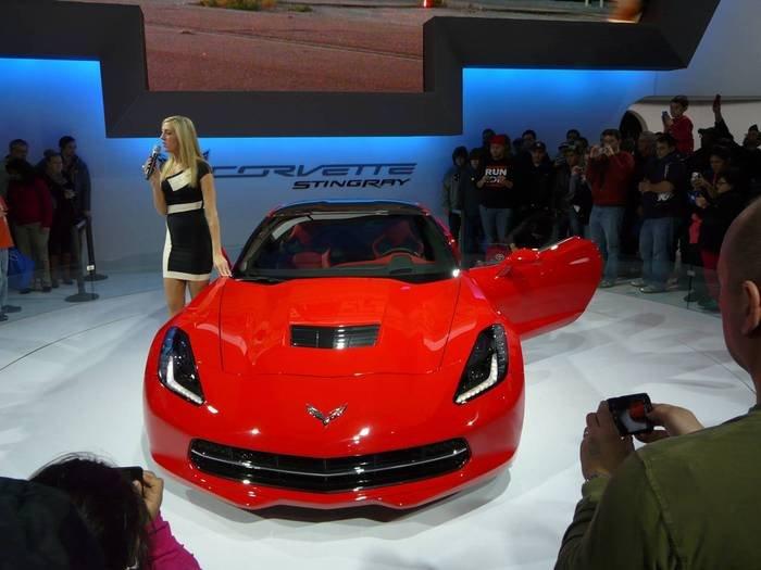 2013 Chevrolet Corvette Stingray draws a big crowd at the 105th Chicago Auto Show on Sunday, Feb. 17, 2013