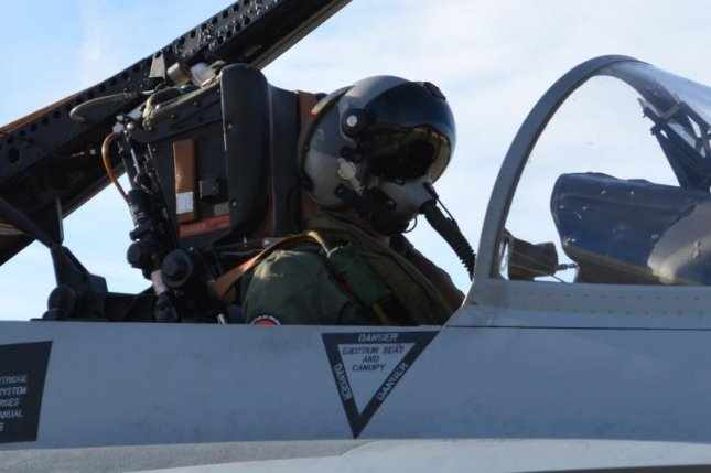 Thales is supplying a helmet-mounted cueing system for Spanish pilots of EF-18 aircraft. Photo courtesy Thales