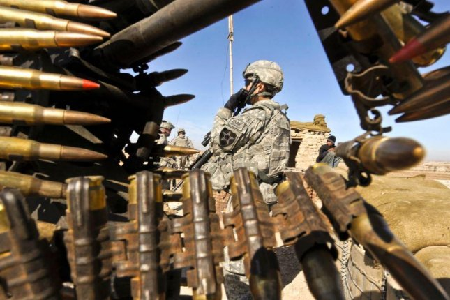 U.S. troops secure a police barracks in Helmond province, Afghanistan. U.S. forces launched a weekend airstrike against Taliban troops near the provincial capital of Lashkar Gah. Photo courtesy of U.S. Army