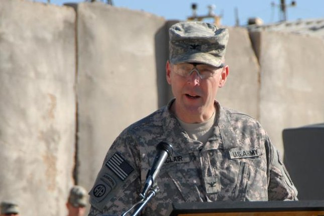 U.S. Army Brig. Gen. Jeffrey Sinclair, here a colonel, in Iraq in 2008. (ARCENT/James Wagner)
