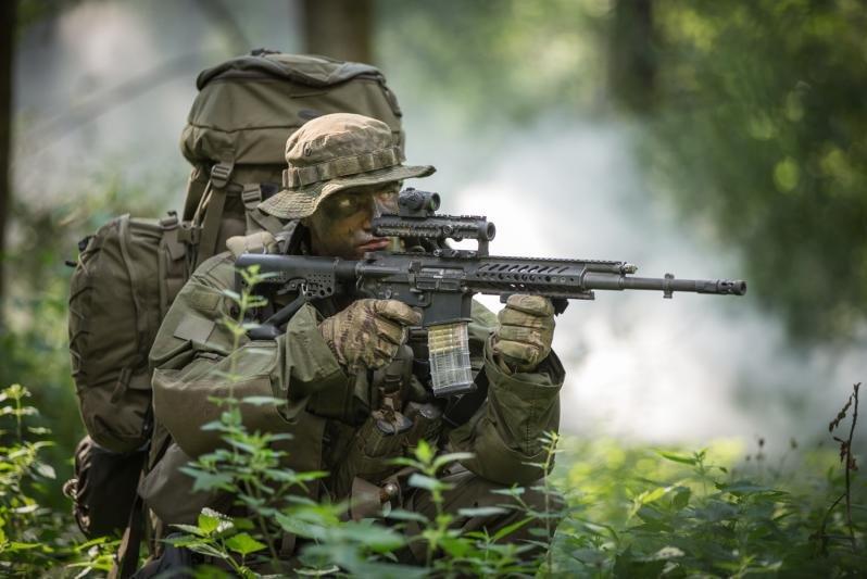 Rheinmetall and Steyr Mannlicher have partnered to manufcture a new assault rifle. Photo courtesy Rheinmetall/Steyr Mannlicher.