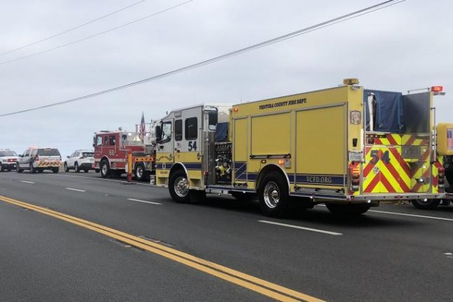 Ventura County emergency crews arrive at a location near Deer Creek Road to search for three people who were swept into the Pacific Ocean by a rogue wave Thursday. Photo courtesy of Ventura County Fire Department