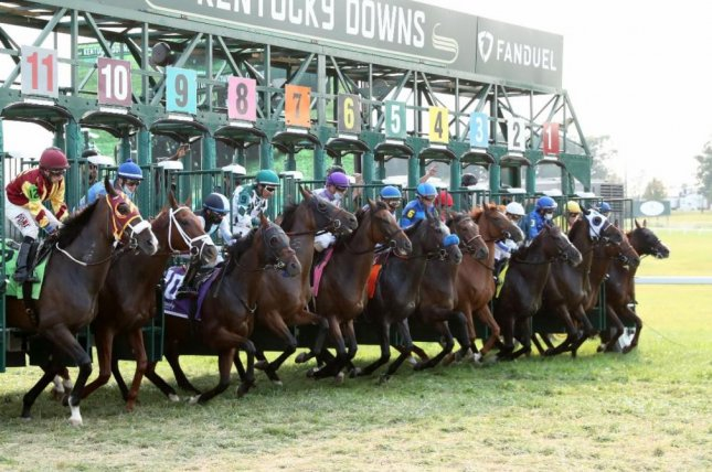 They're off and running in the Ladies Marathon at Kentucky Downs, which wrapped up a record meeting Sunday. Photo by Coady photography, courtesy of Kentucky Downs