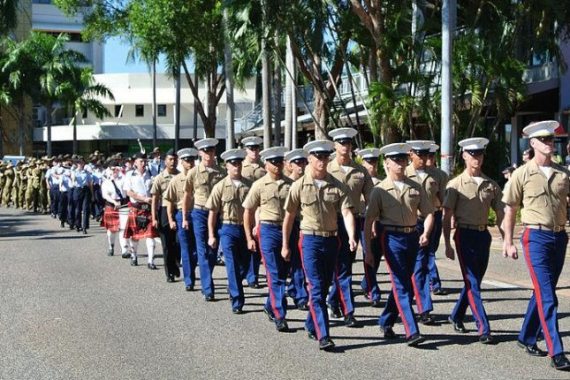 U.S. Marines on a training deployment to Australia march in military parade in the city of Palmerston. U.S. Department of Defense photo by 2nd Lt. Savannah Moyer