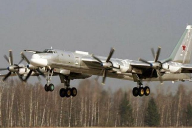 Two Tu-95 bear bombers, similar to the one shown here, were spotted flying off the coast of Alaska on Thursday. It was the fourth time in as many days Russian war planes were seen off the U.S. coast. Photo courtesy Russian Defense Ministry