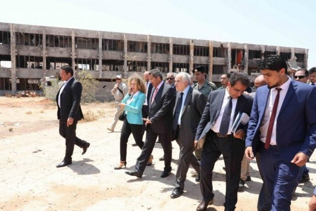 U.N. delegation tours Benghazi in early August. Special envoy Ghassan Salame says Libyans can't understand why they're power in an oil-rich country. Photo courtesy of the U.N. Support Mission in Libya.