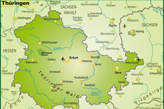 Thuringen in Germany, where Suhl is located. Image by Artalis/Shutterstock
