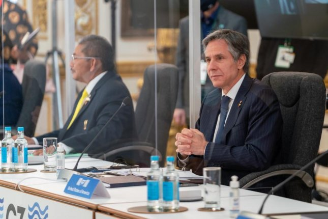 U.S. Secretary of State Antony Blinken attended the two-day meeting of the G7 in London, Britain, which concluded on Wednesday. Photo courtesy of U.S. Secretary of State Antony Blinken/Twitter