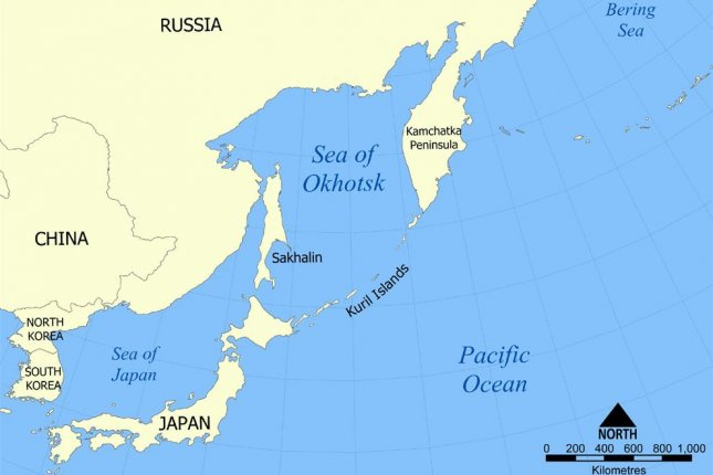 The Kuril Islands lie between Japan and Russia's Kamchatcka Peninsula. All 56 islands in the chain are currently under the jurisdiction of Russia, but Japan claims sovereignty over two of the largest islands in the south, Iturup and Kunashir. Map courtesy of Google Maps.
