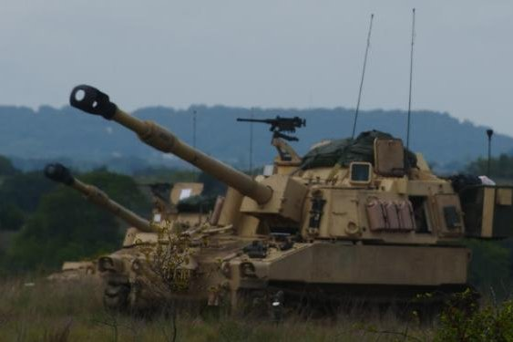 The M109A7 Paladin self-propelled howitzer operates during a field exercise. Photo by Capt. Scott Kuhn/U.S. Army