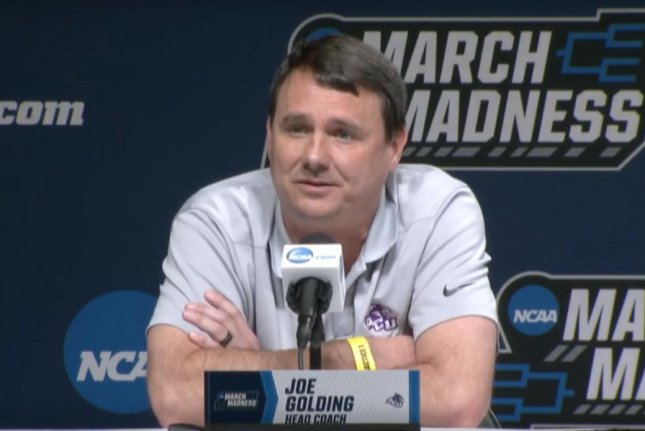 Coach Joe Golding has Abilene Christian playing in the NCAA tournament for the first time in school history. The Wildcats battle Kentucky in the first round Thursday in Jacksonville, Fla. Photo courtesy of March Madness/YouTube