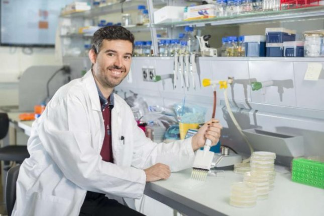 Postdoctoral researcher Arnau Domenech and his colleagues identified a new pathway for disrupting the ability of bacteria cells to develop antibiotic resistance. Photo by Veening Lab