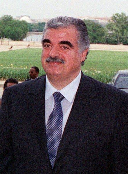 Former Lebanese Prime Minister Rafik Hariri, as seen in 2001, courtesy of the Department of Defense via Wikimedia Commons.