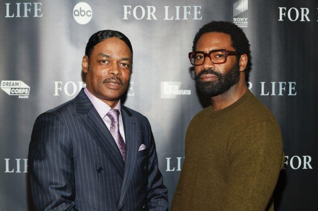 Executive producer Isaac Wright Jr. (L) stands with actor Nicholas Pinnock. The second half of For Life Season 2 begins on Wednesday. Courtesy of ABC