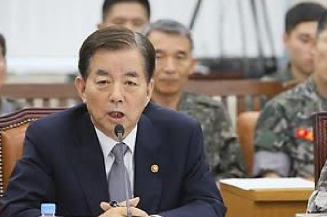 South Korean Defense Minister Han Min-koo said to lawmakers on Wednesday there have been no reviews of the current military strategy that involves both Seoul and Washington despite a recent report of a new plan. File photo by Yonhap
