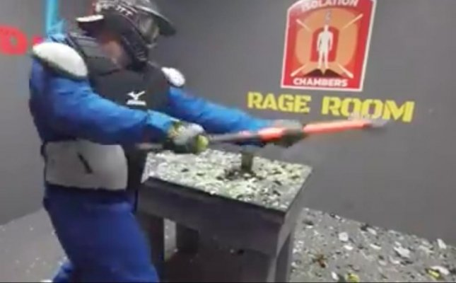 Canadian 'Rage Room' lets guests smash out stress