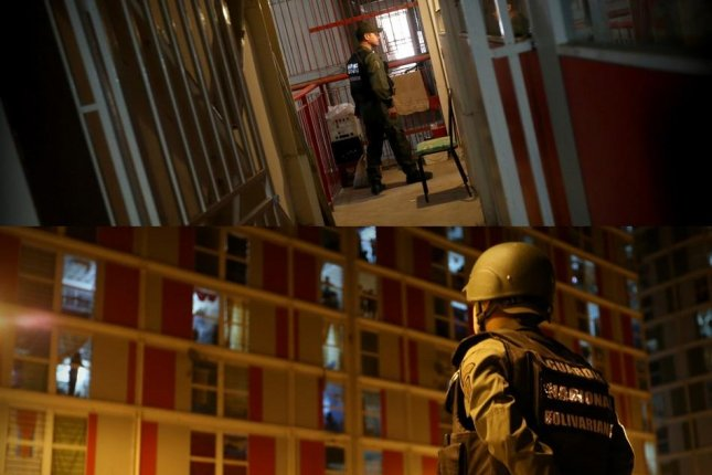 Venezuela arrested 212 suspected criminals, some accused of rape and murder, in a Caracas neighborhood as part of a continued nationwide security operation. Photos courtesy of Venezuela's Ministry of Popular Power for Interior, Justice and Peace. Compiled by UPI