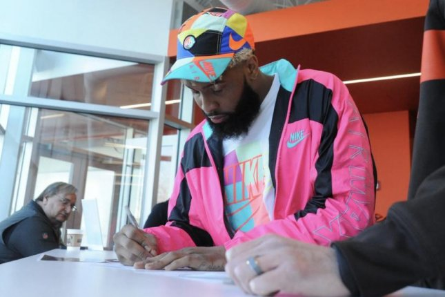 Odell Beckham Jr. joined the Cleveland Browns in a trade from the New York Giants in March. Beckham was in Berea, Ohio Monday for the first day of the team's off-season workout program. Photo courtesy of the Cleveland Browns