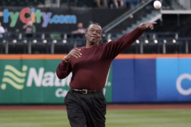 Former pitcher Al Jackson threw out the ceremonial first pitch for the New York Mets on Jackie Robinson Day in 2015 at Citi Field in Queens. Photo courtesy of the New York Mets/Twitter