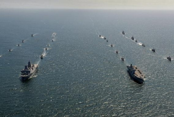 NATO's BALTOPS 2020 exercise in the Baltic Sea, involving 19 nations, will be restricted to air and maritime operations when it begins next week, the U.S. European Command announced on Monday. Photo courtesy of British Ministry of Defense