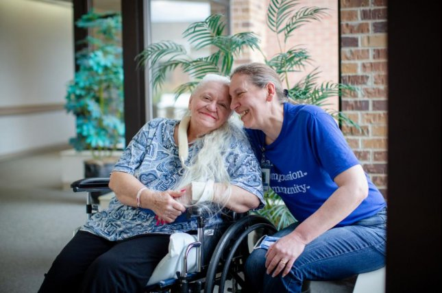 A pair of Nebraska sisters who hadn't seen each other in more than 50 years were reunited when the older sister was recovering from COVID-19 and ended up at the rehabilitation facility where her younger sister works. Photo courtesy of Methodist Health System