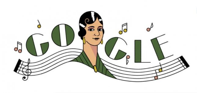 Google is paying homage to singer and songwriter María Grever with a new Doodle. Image courtesy of Google