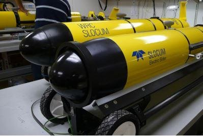 The U.S. Navy seeks to update its Littoral Battlespace Sensing Glider, pictured, an underwater drone capable of obtaining oceanographic data for anti-submarine warfare. Photo courtesy of Teledyne Brown Engineering