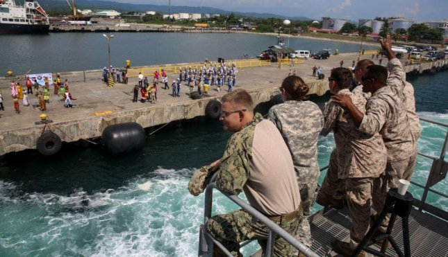 The USNS Millinocket arrives in the Philippines, which on Monday extended its Visiting Forces Agreement with the United States for six more months. Photo by Sgt. James Gulliver/U.S. Navy