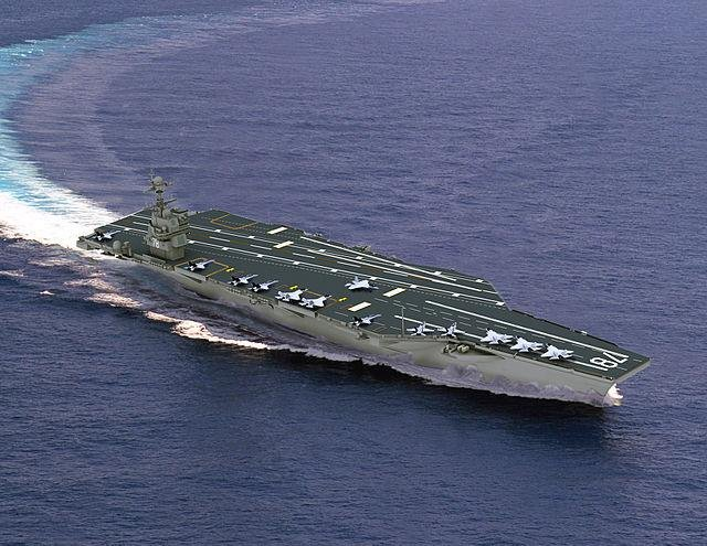 Artist's concept of the USS Gerald R. Ford. (U.S. Navy image)