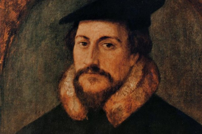 The pastor John Calvin, a reformer during the Protestant Reformation, argued humans had free will. Photo by Hans Holbein/Wikimedia