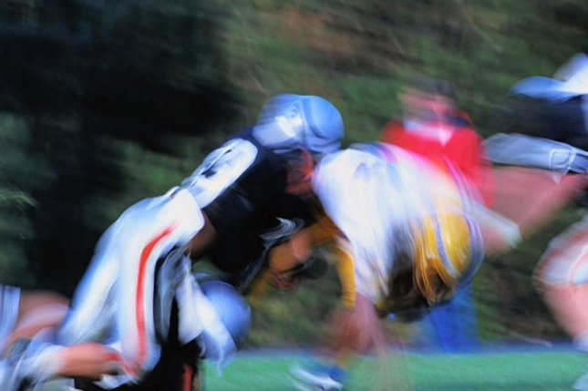 The frequency of head impacts was lower among the rugby players than among the football players, according to the researchers.Photo courtesy of HealthDay News