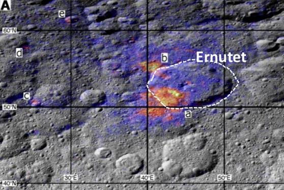 Analysis of the distribution of organic compounds on Ceres surface suggest they are internally produced, not delivered by asteroid or comet impacts. Photo by NASA/JPL-Caltech/UCLA/ASI/INAF/MPS/DLR/IDA