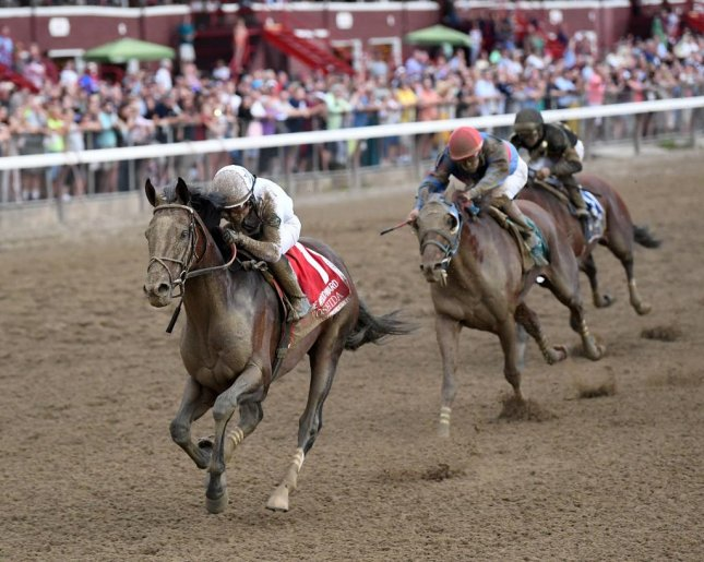 Yoshida sweeps to victory in the Grade I Woodward as Saratoga winds up its 2018 meeting. (NYRA photo, Chelsea Durand)